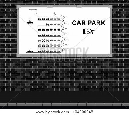 Car Park advertising board