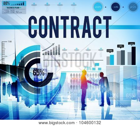 Contract Agreement Deal Bargain Partnership Concept