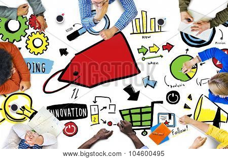 Diversity Casual People Branding Marketing Brainstorming Concept