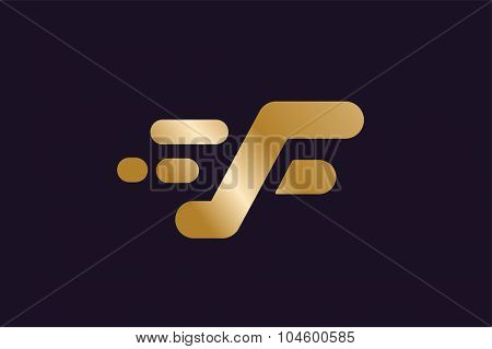 Fast line F letter logo. F lines monogram. Vector F line letter. F letter design. Abstract F letter. Motion lines. F line symbol. Thin line style.Transport delivery F motion icon logo. F icon isolated
