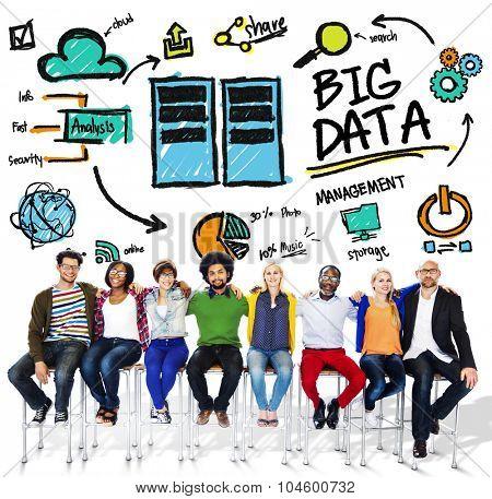 Diversity People Big Data Working Teamwork Friendship Concept
