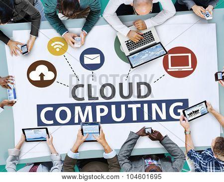 Cloud Computing Online Internet Sharing Storage Concept