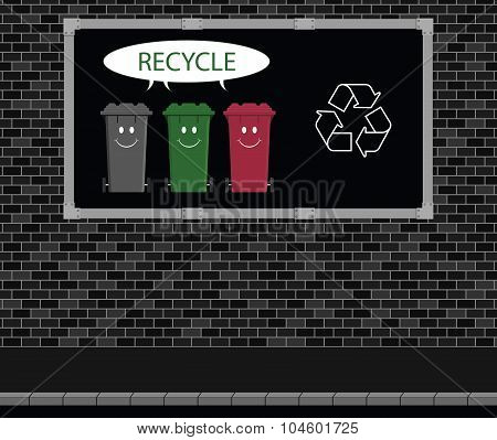 Recycle advertising board
