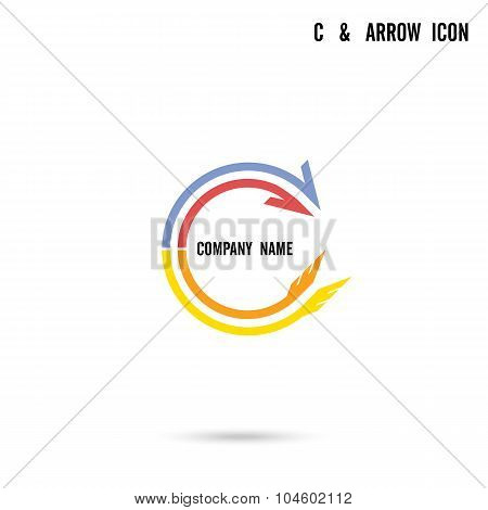 C Letter Icon Abstract Logo Design Vector Template.