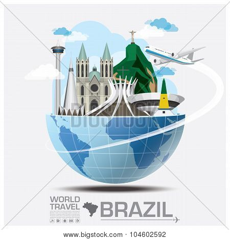 Brazil Landmark Global Travel And Journey Infographic