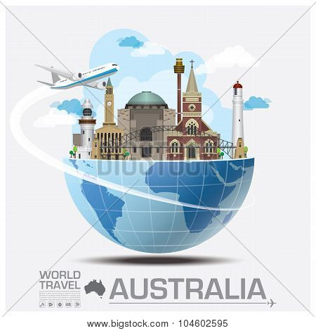 Australia Landmark Global Travel And Journey Infographic