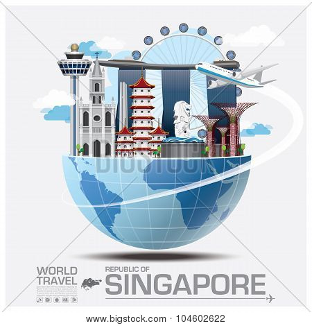Singapore Landmark Global Travel And Journey Infographic