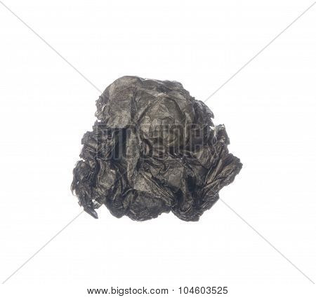 Crumpled Carbon Paper Isolated On White Background