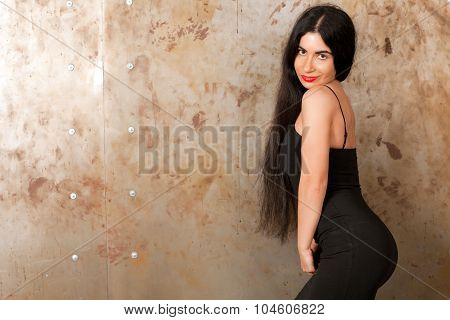 Woman Near The Wall