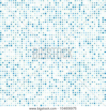 Technology pattern composed of blue Circles. Vector background.