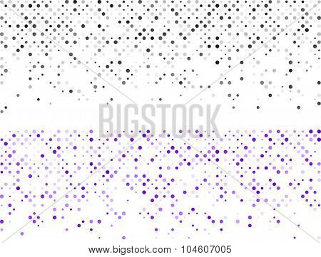 Technology pattern composed of colorful Circles. Vector banners.