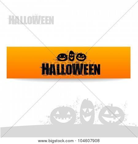 Halloween banner - vector design template.
