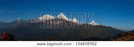 Asia, Nepal - Annapurna view from poonhill