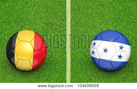 Team balls for Belgium vs Honduras soccer tournament match