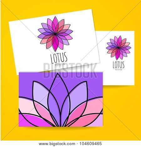 Lotus Meditation - sign design template. Logo meditation room, yoga studio, a spa center etc..