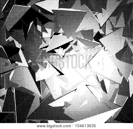 Halftone Abstract Background In Black And White