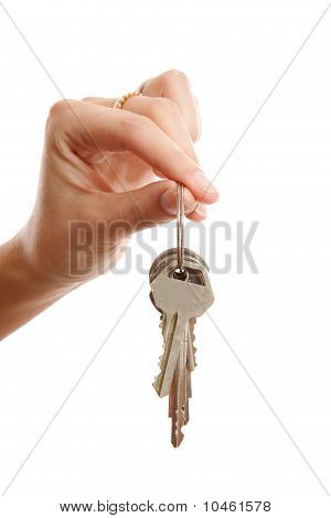 Womans Hand Gives You The Keys