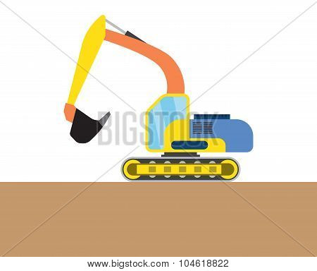 Colorful digger picture