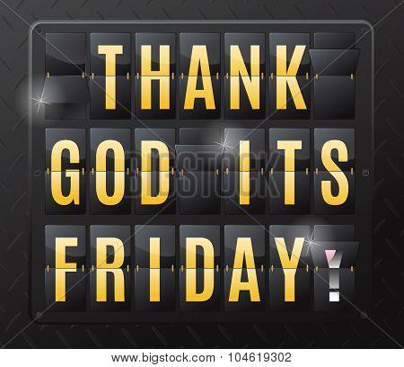 Thank God Its Friday Steel Flip Calendar.