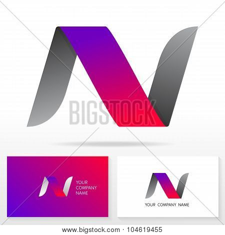 Letter N logo icon design template elements - Illustration.