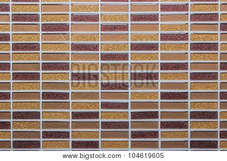 Mosaic tile wall background texture. tile wall high resolution real photo.