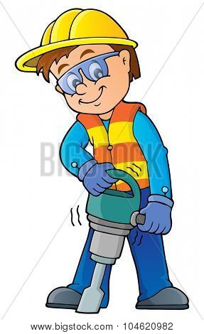 Construction worker theme image 7 - eps10 vector illustration.