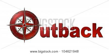 Outback (Metallic Sign)