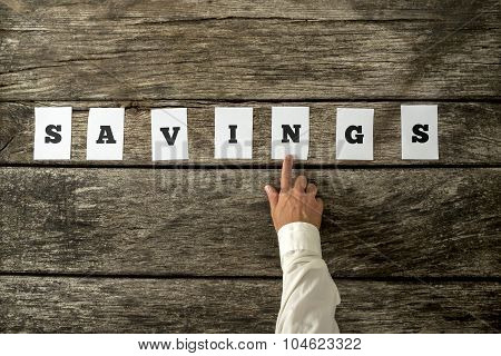 Financial Adviser Pointing To A Savings Sign