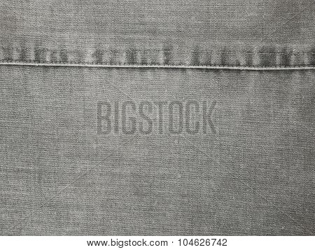 Fragment Of Obsolete Gray Fabric