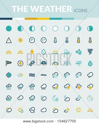 The Weather Colorful Flat Icons