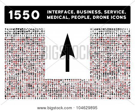 Arrow Axis Y Icon and More Interface, Business, Tools, People, Medical, Awards Flat Vector Icons