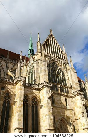 Architecture Of The Cathedral Of Regensburg