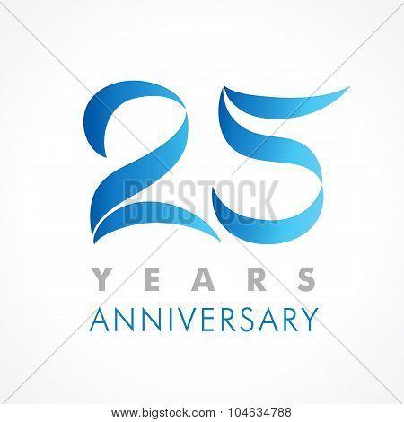 25 anniversary logo blue