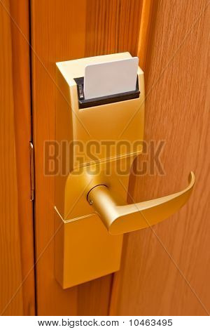 Door key.