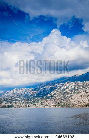 Beautiful rocky Mediterranean coast in Croatia, rocky islands