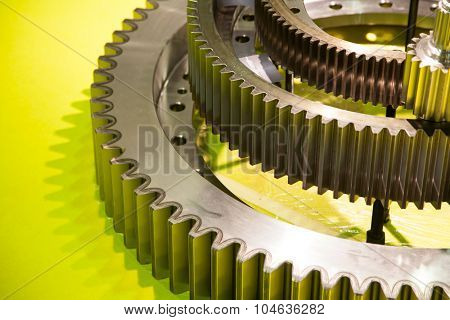gears, nuts and bolts, great technology background or texture, artistic toned photo