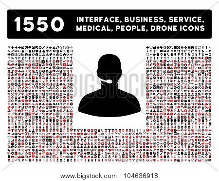 Call Center Icon and More Interface, Business, Tools, People, Medical, Awards Flat Vector Icons