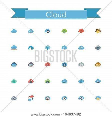 Cloud Flat Icons
