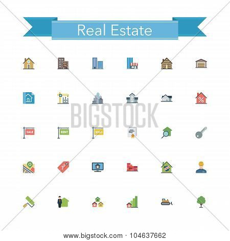 Real Estate Flat Icons