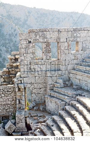 The Old  Temple And Theatre   Turkey Asia