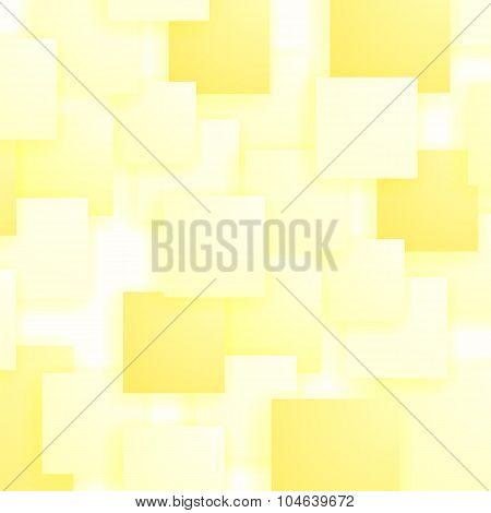 Set of Yellow Squares. Squares Pattern
