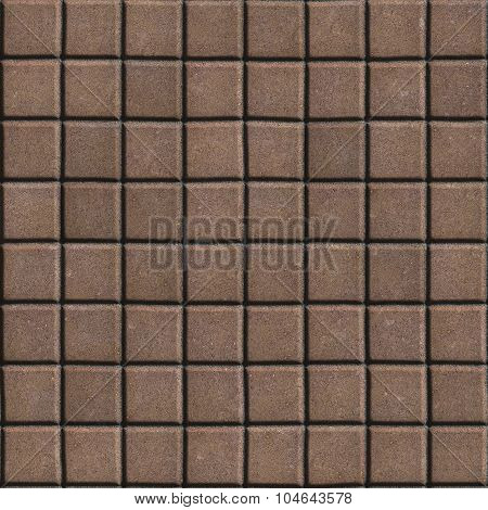 Brown Paving Slabs of Small Squares.