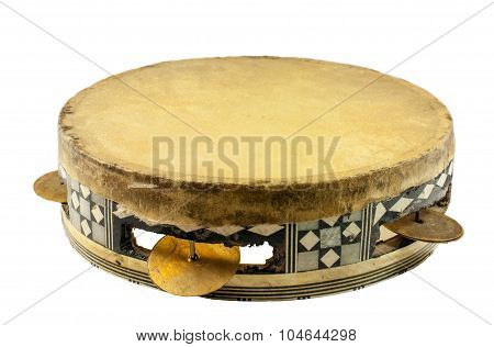 Egyptian Tambourine Made Of Camel Skin