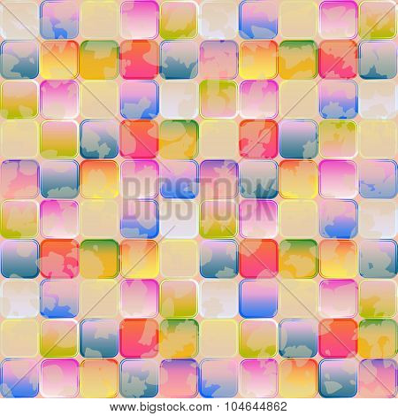 Bright Graphic Seamless Pattern Of Transparent Gradient Tiles