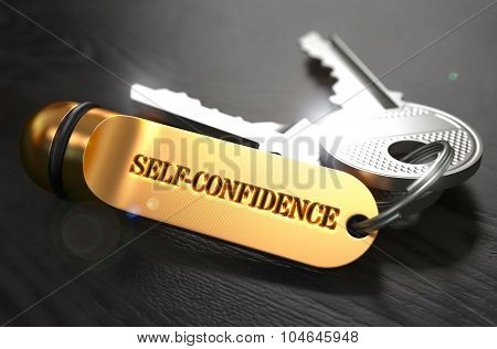 Self-Confidence written on Golden Keyring.