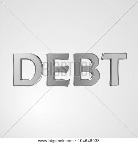 3D Text Debt