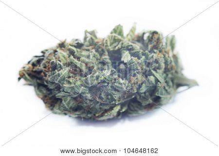 Macro detail of marijuana bud