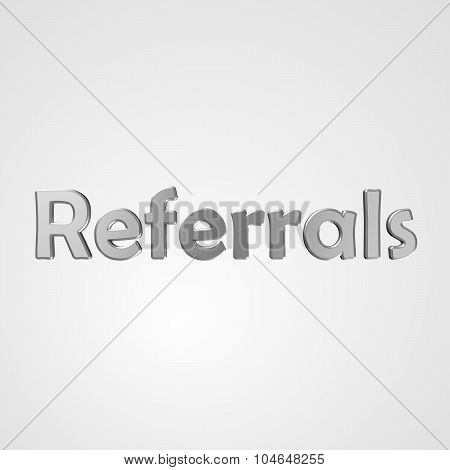 3D Text Referrals