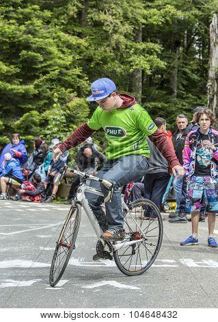 Acrobat Amateur Cyclist - Tour De Freance 2014