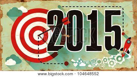 2015 on Grunge Poster.